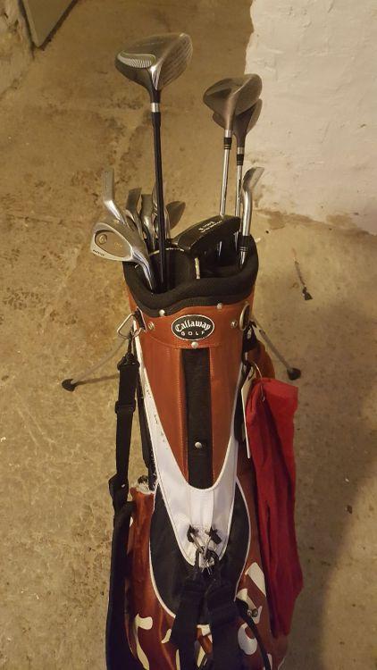 Golfbag + klubbor