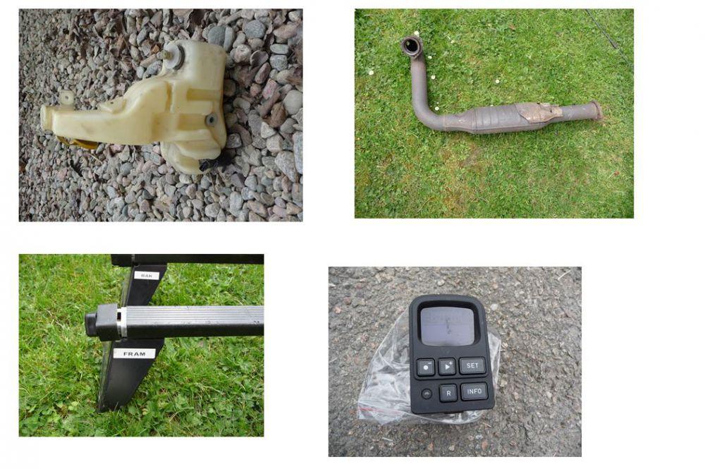 Nokian sommardäck utan fälg 4st. och  SAAB.delar
