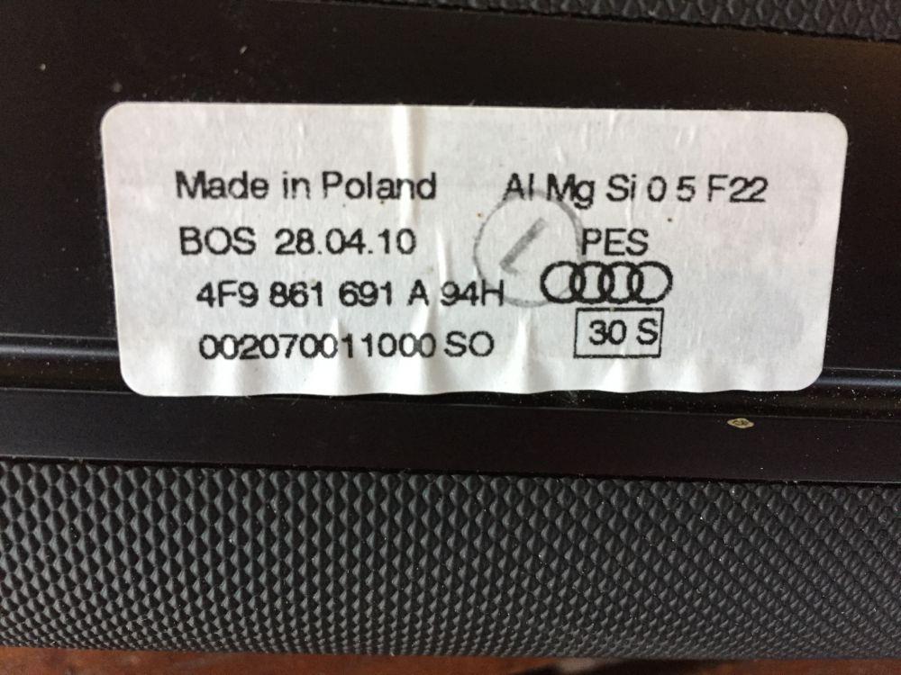 Bagageskydd Audi A6 skänkes