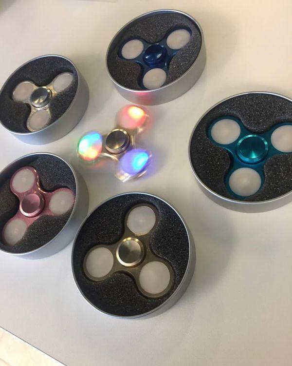 Supercoola LED Fidget Spinner Aluminium