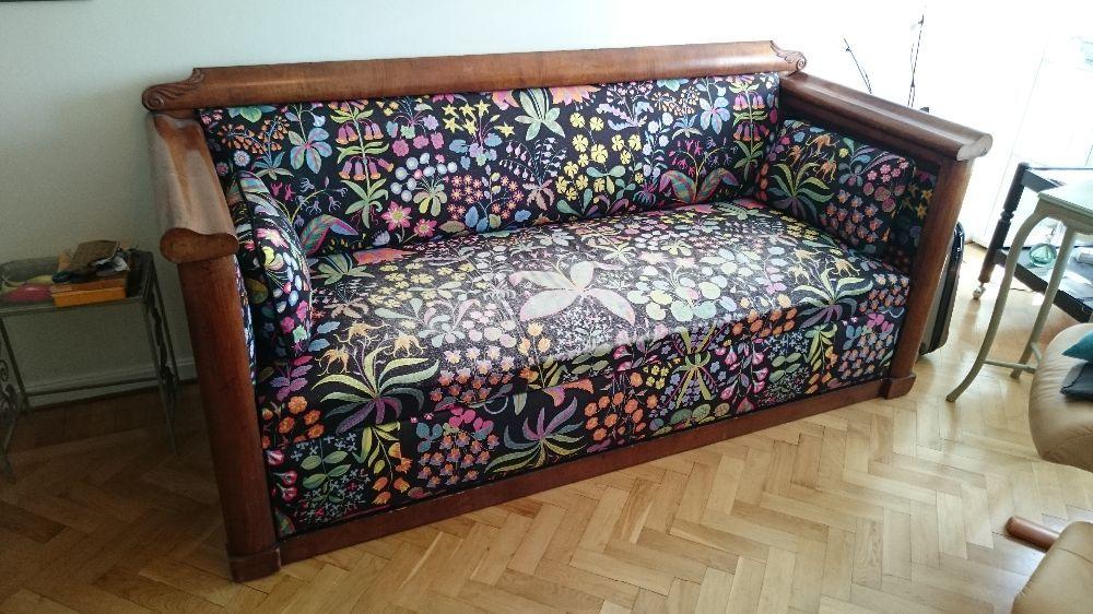 Soffa empire-stil med Josef Frank tyg.