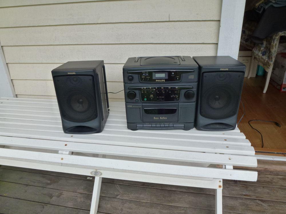 Philips radio/ cdspelare/kasettband