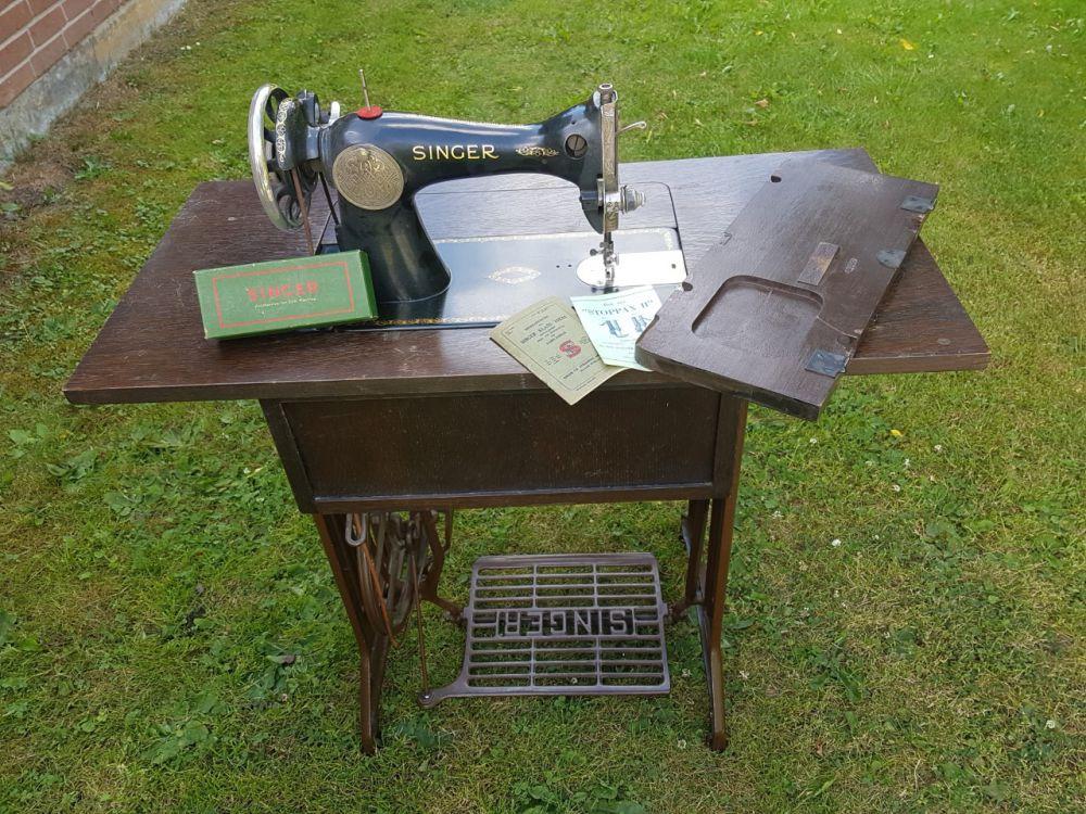 Äldre fungerande symaskin
