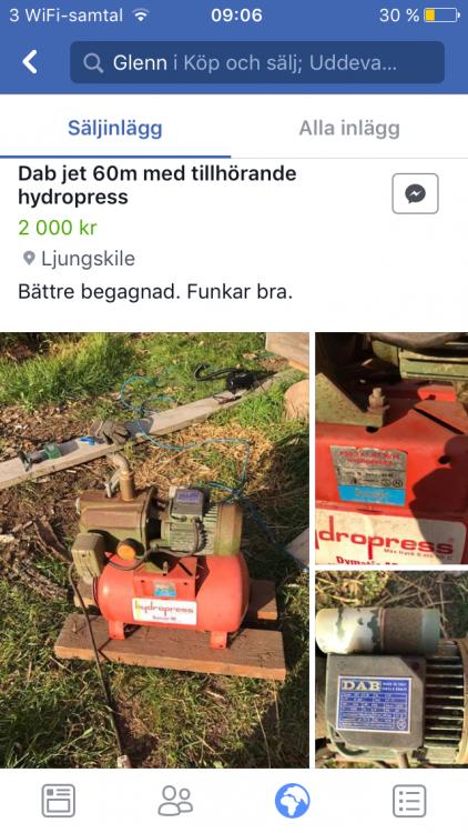 Elmotor och hydropress säljes