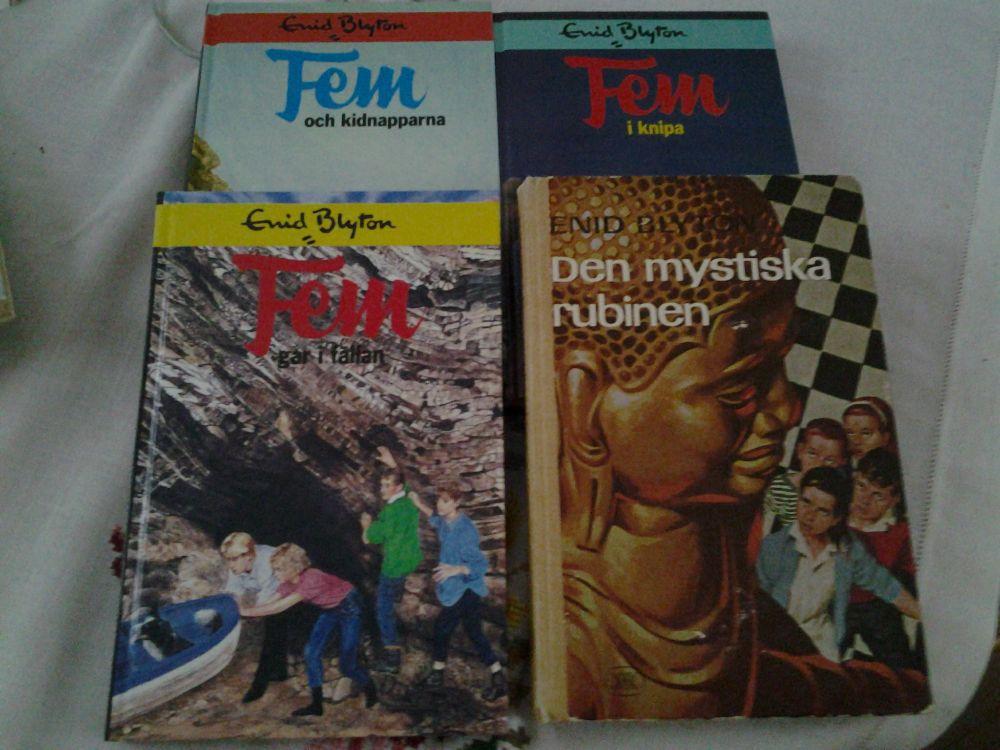 4 böcker av Enid Blyton - spännande läsning för regniga dagar