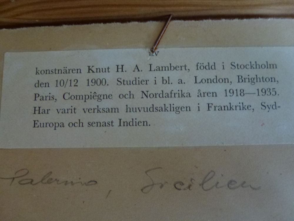 Oljemålning Knut H.A Lambert