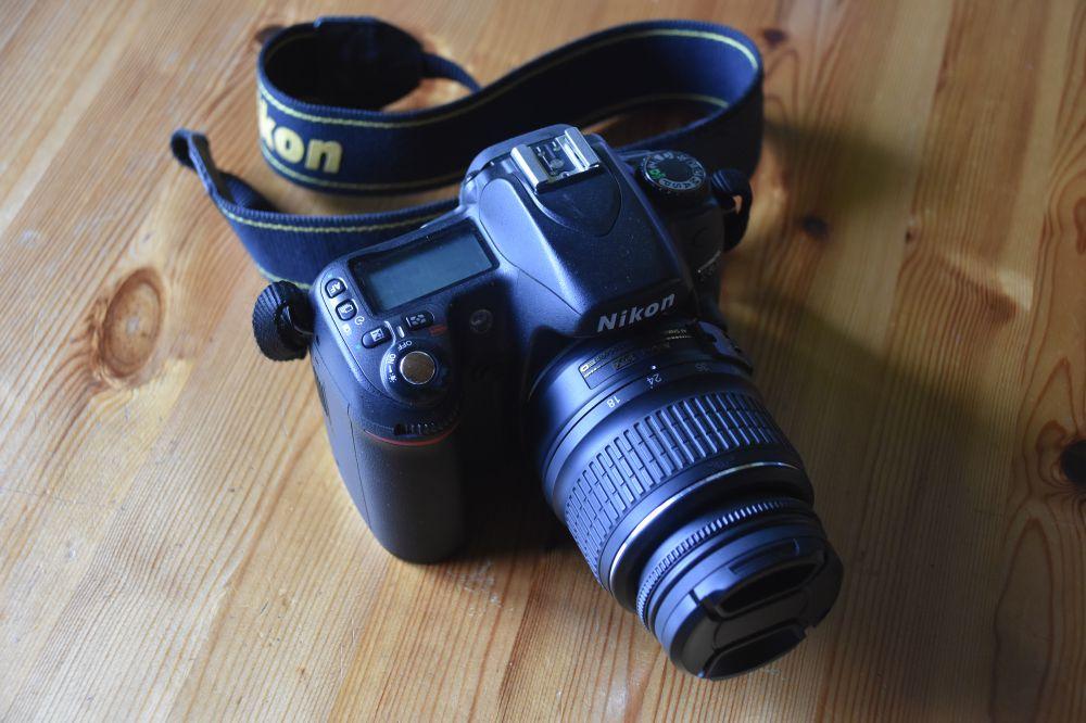 Systemkamera Nikon D80. Kameraväska