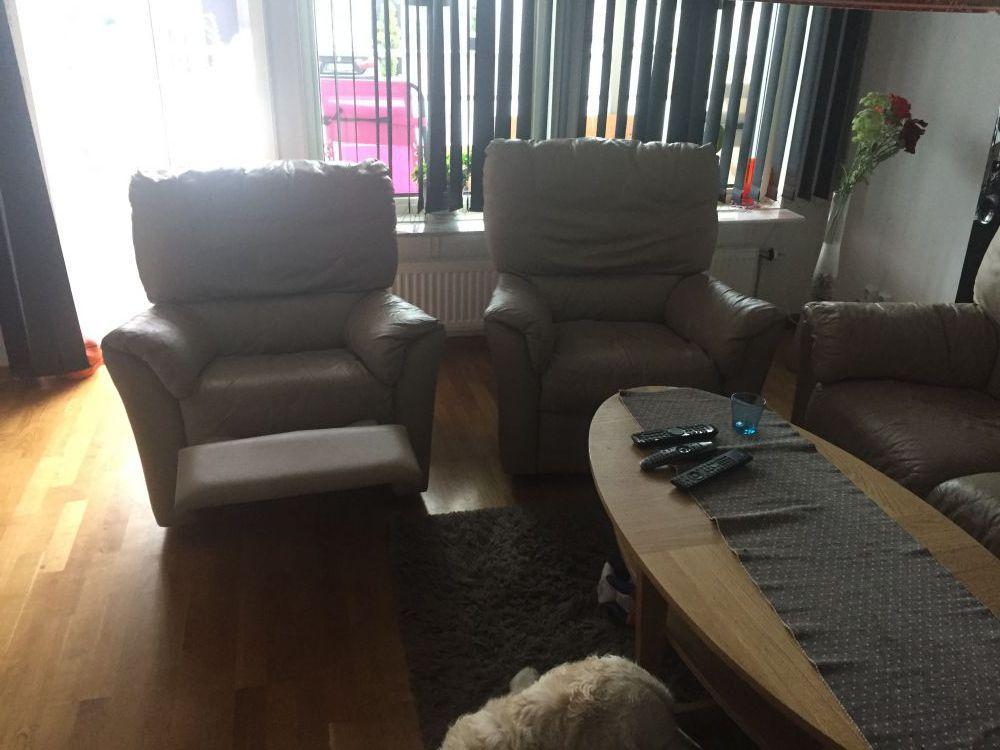 Skinnmöbler (3+1+1) med recliner funktion