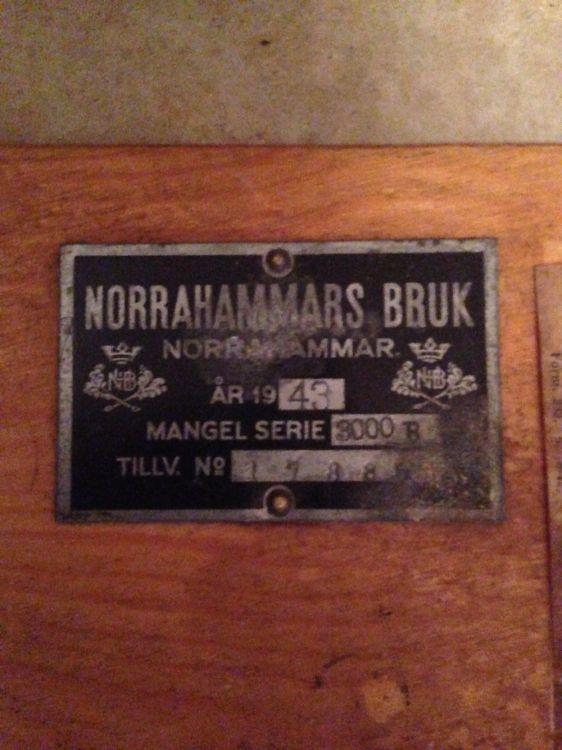 Mangel från 1943, Norrahammar