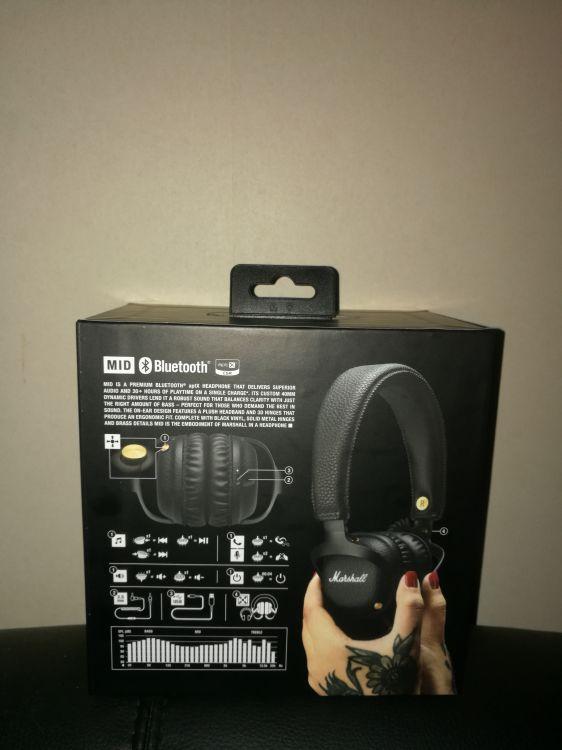 Marshall Mid headphones oöppnad förpackning