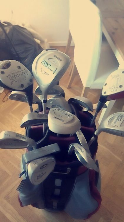 Golfbag, du får alla klubbor också