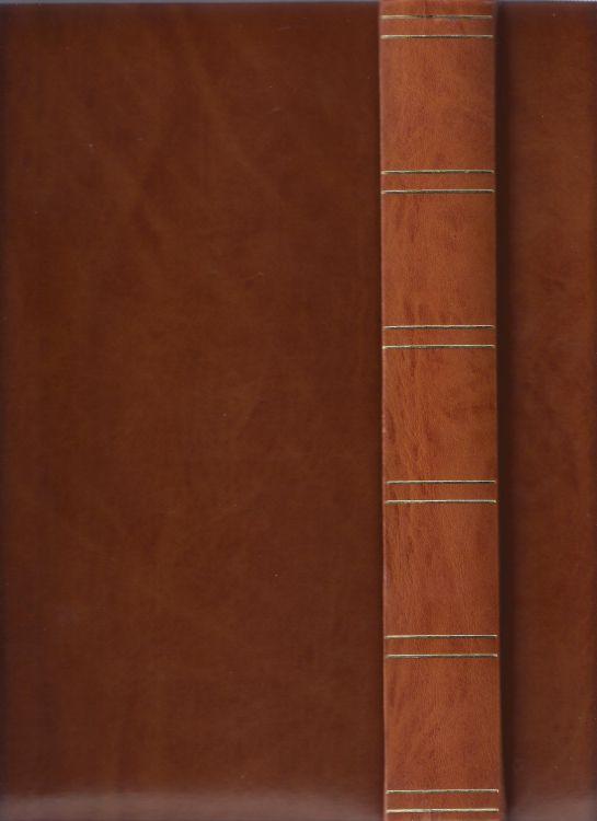 Frimärksalbum 2 st i läderimitation 30x24x4 cm, 30 kartonblad med dubbla skyddsfolier