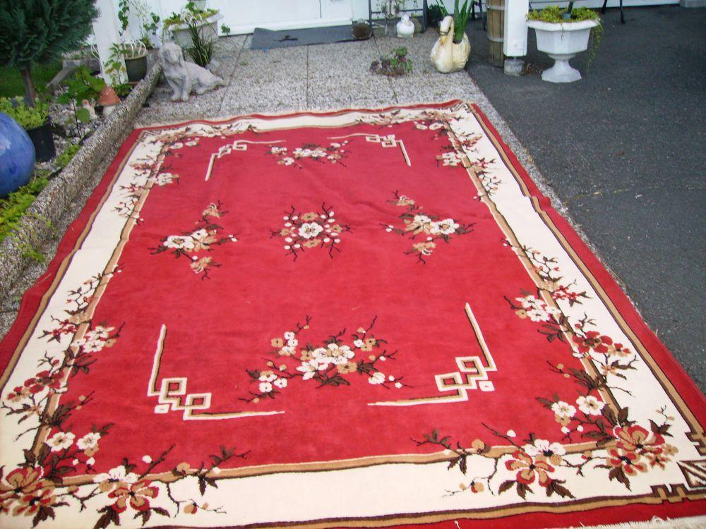 3 st mattor  röd blå  vinröd