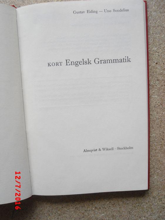 Bok i Kort Engelsk grammatik 110 sidor