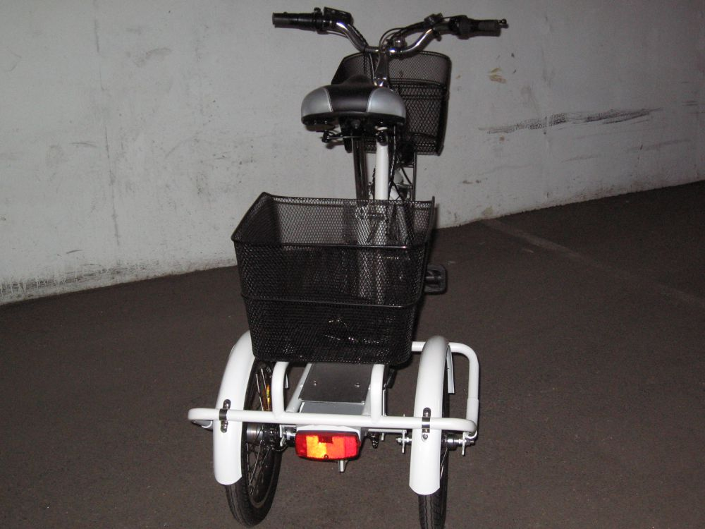 Trehjulig elcykel