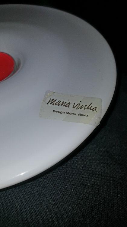 NY! Ljushållare design by MARIA VINKA.Vitglas.Perfekt skick.