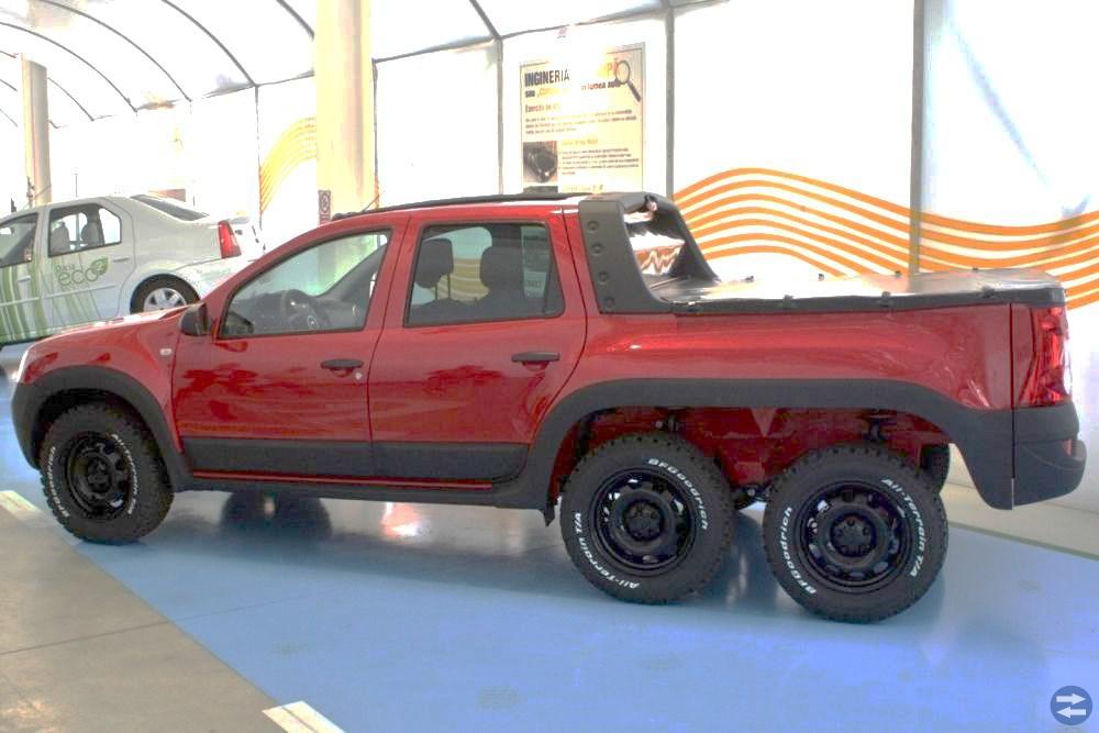 Dacia Duster Pickupp Kopes Röd