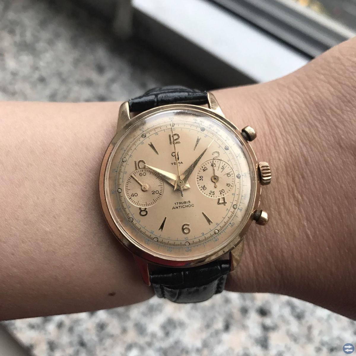 Sökessss gamla mekanisk kronograf klockor
