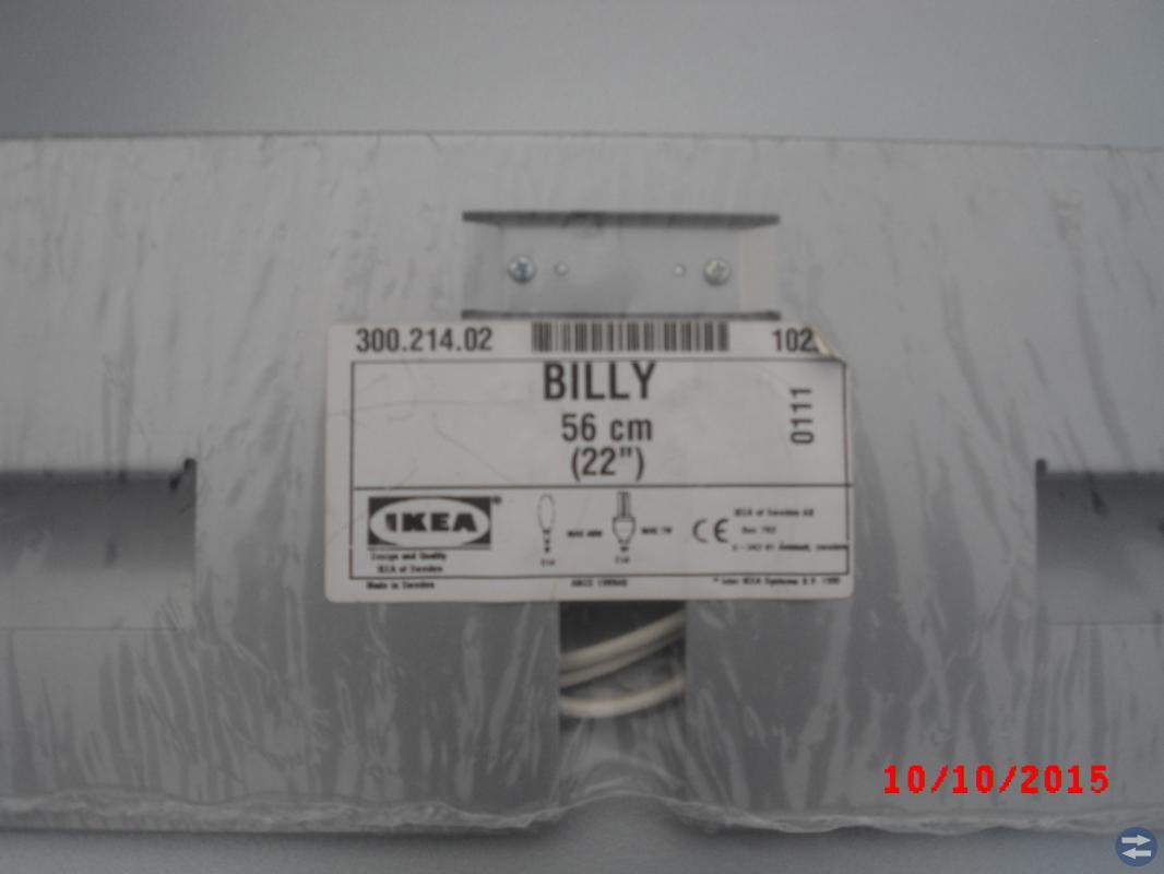Bel bokhylla/billy 56 cm oanvänd se bild
