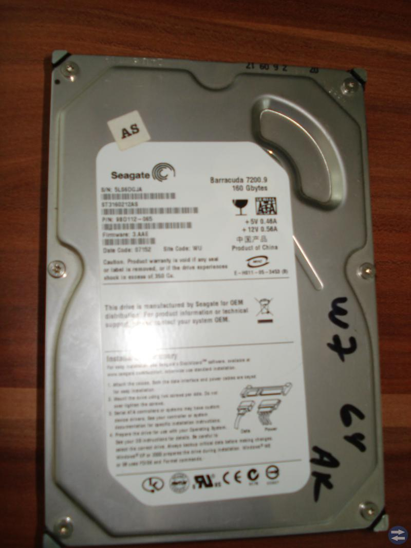 Hårddisk Seagate Barracuda 7200.9 160 GB