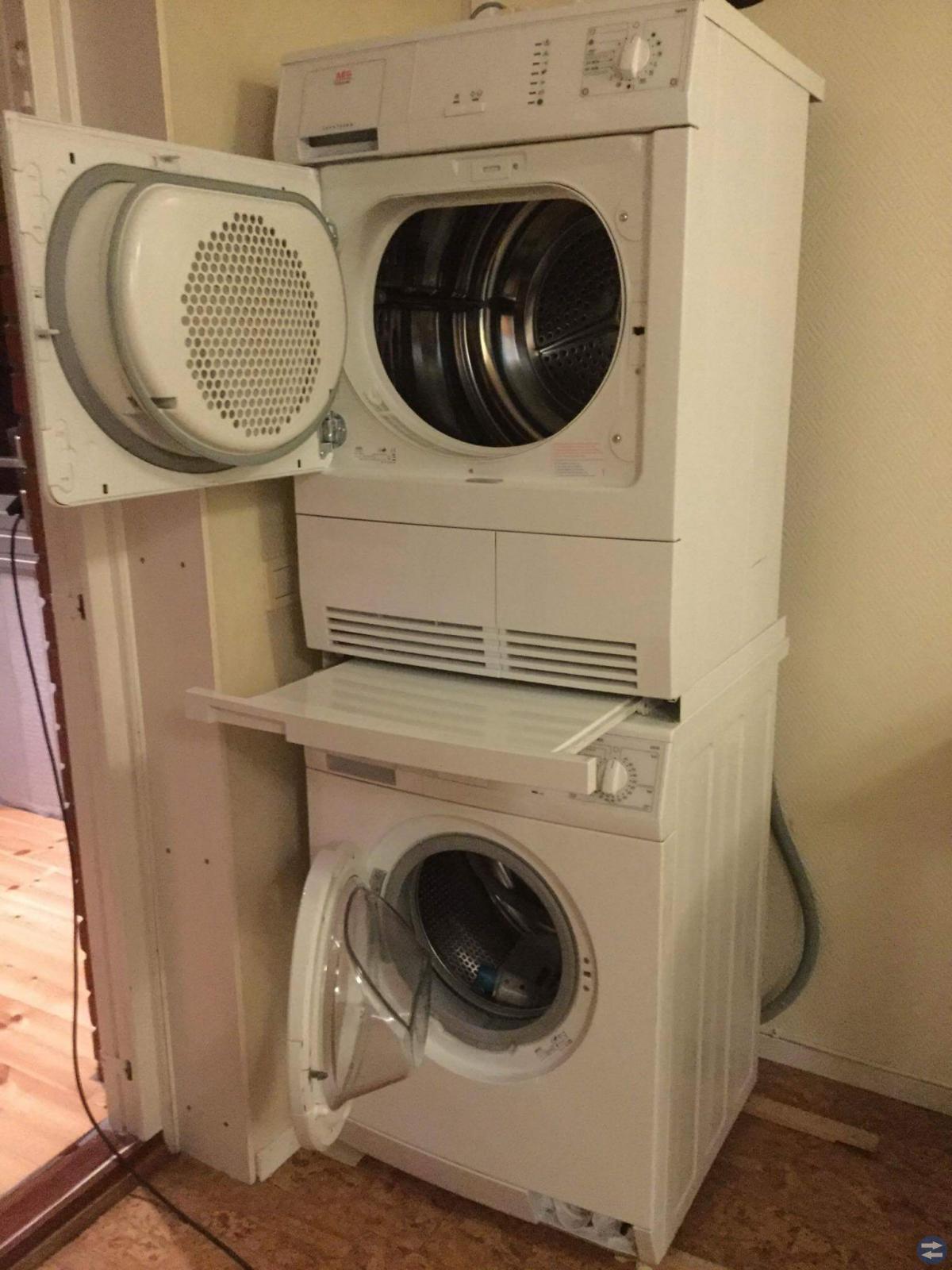 Sälj oanvänd tvätt machin och torktumlar