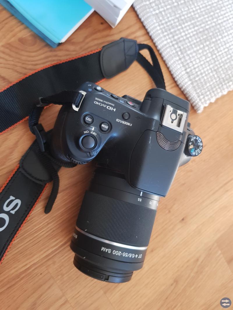 Sony x58 digitalkamera med utbytbar objektiv.