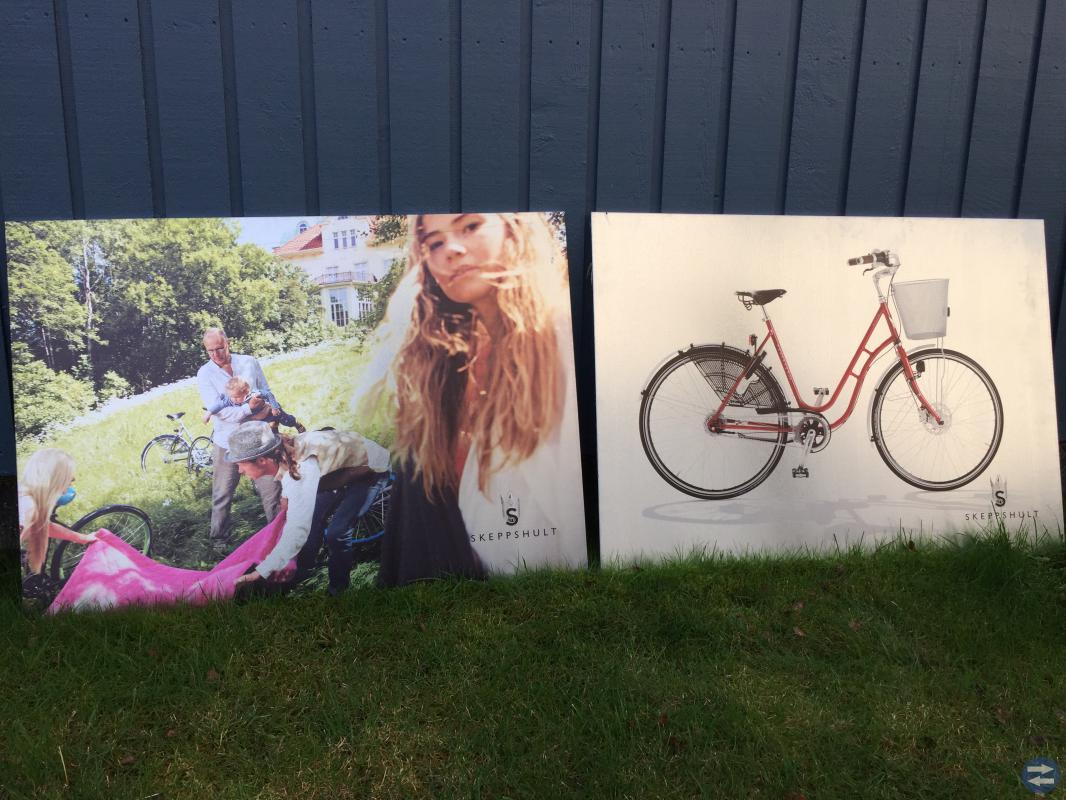 Reklamskylt Skeppshult cykel