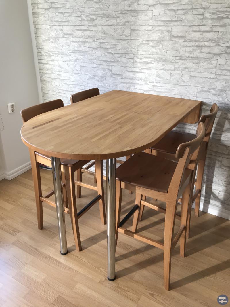 Barbord + 4 stolar