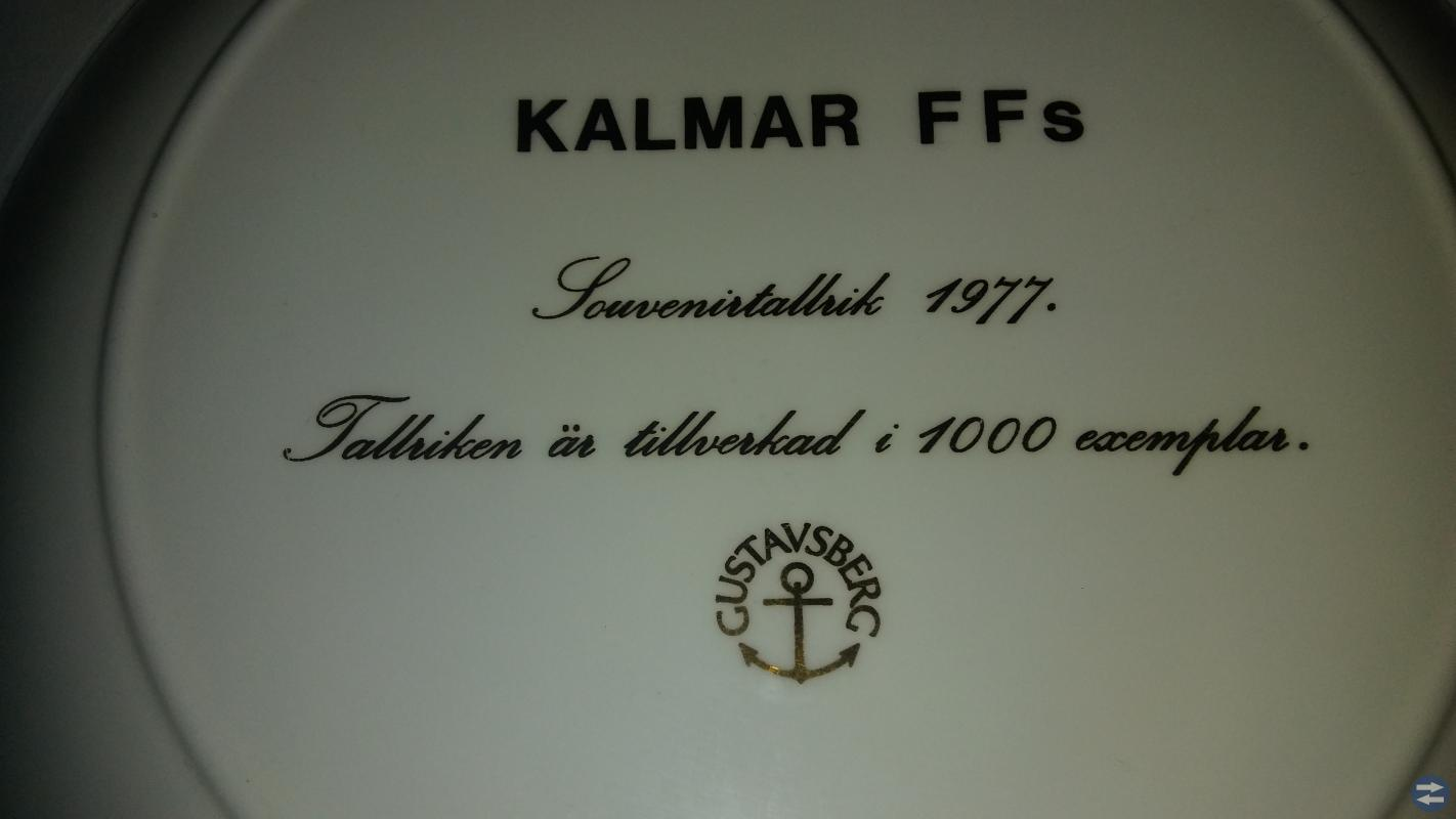 Gustavsberg tallrik Kalmar FF 1997 år.