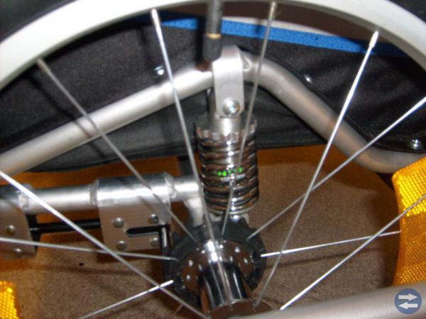 Cykelvagn, cykelkärra dämpad