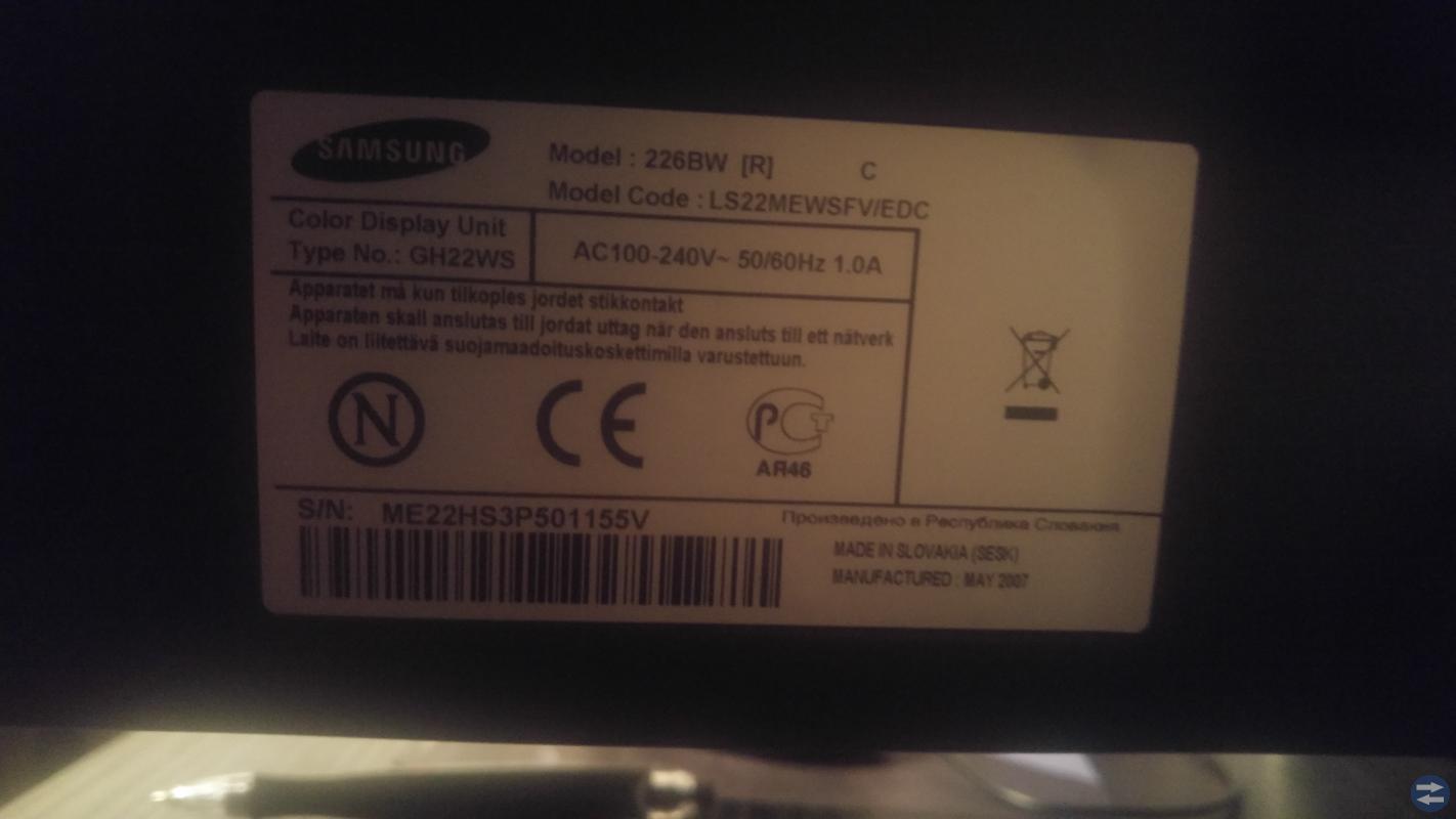 Datorskärm Samsung SyncMaster