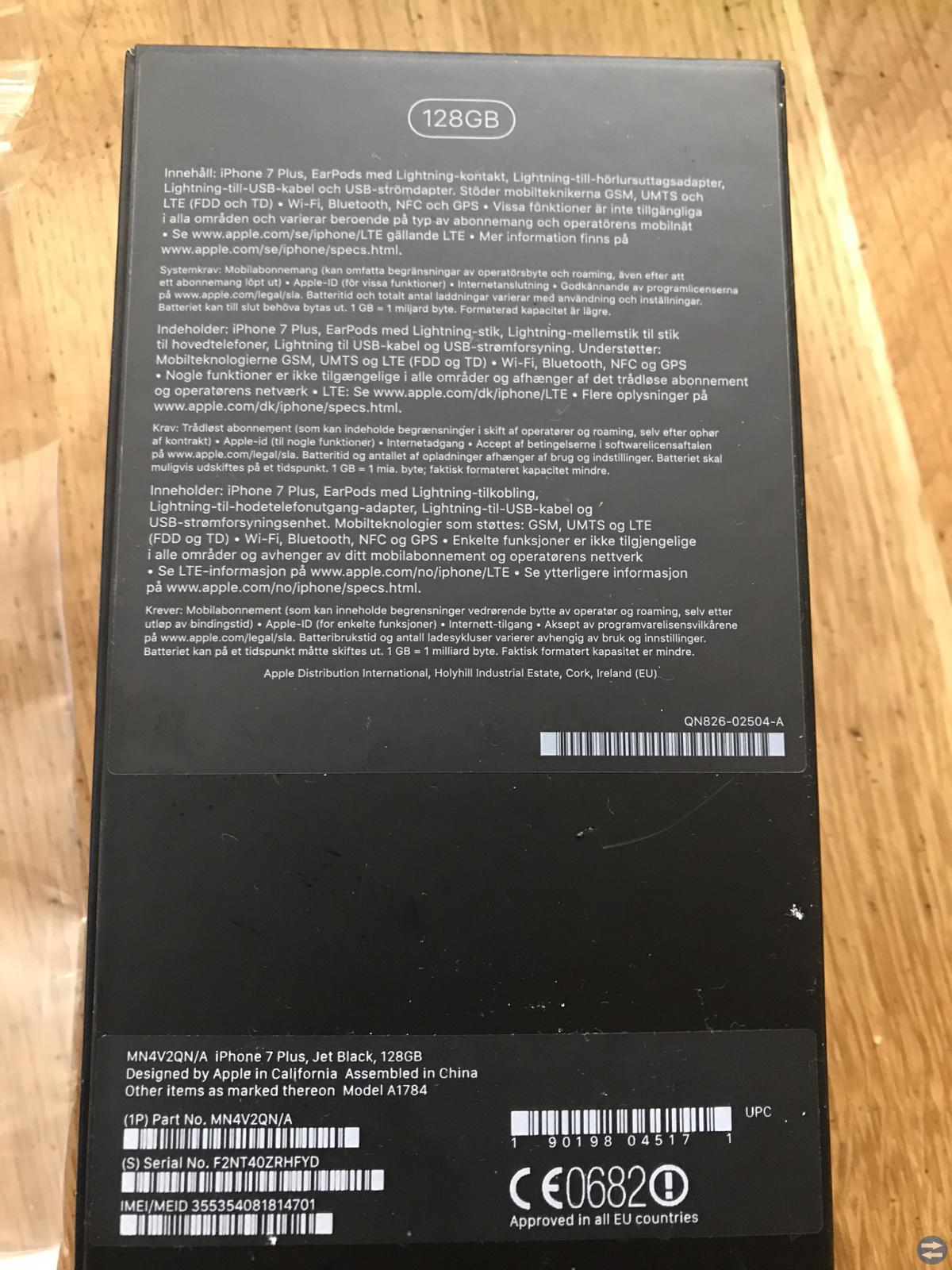 Iphone 7 plus jet black 128 GB