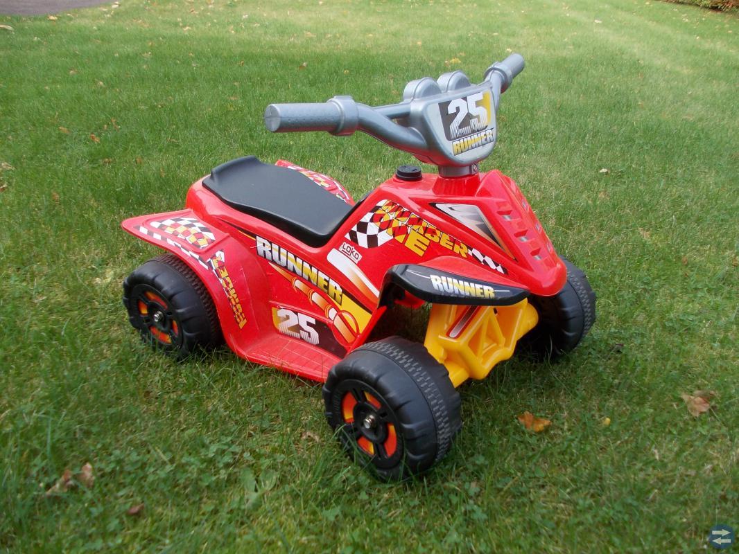 Batteridriven fyrhjuling
