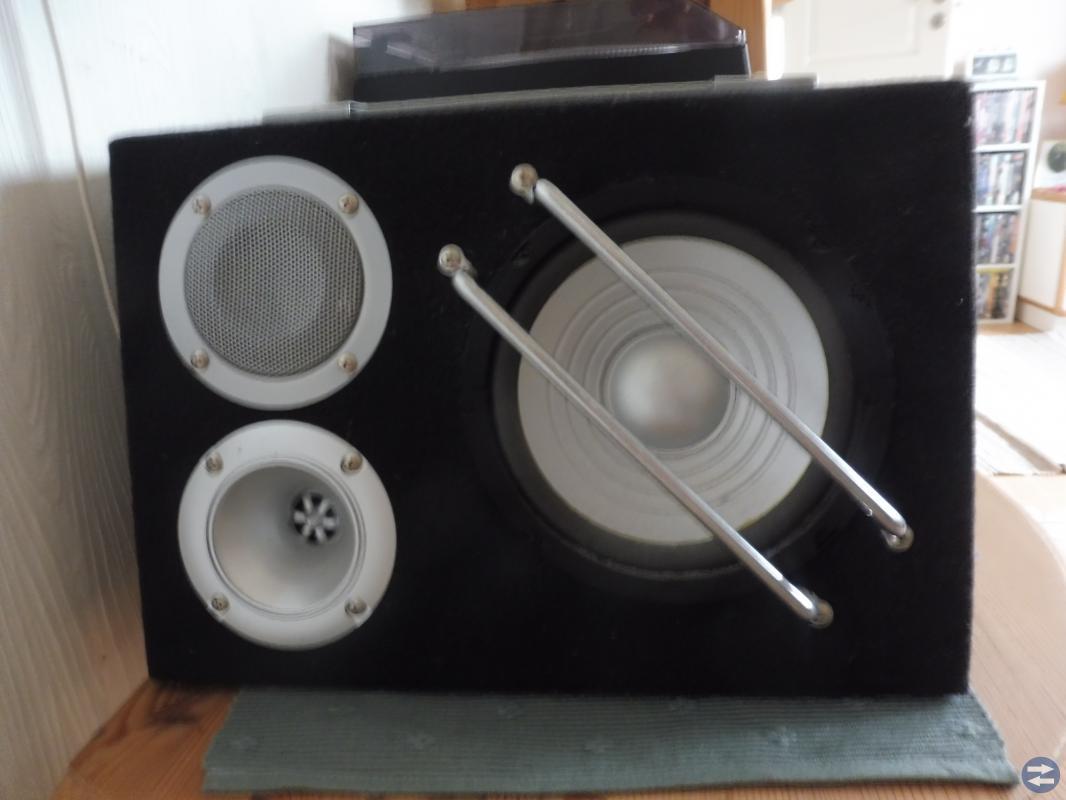Stereo med  högtalare