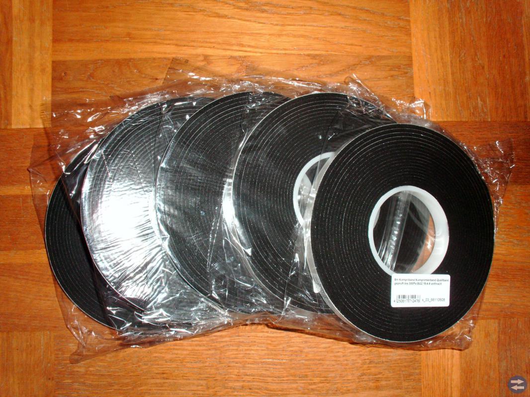 Fönsterdrev * expanderande Drevband för tätning