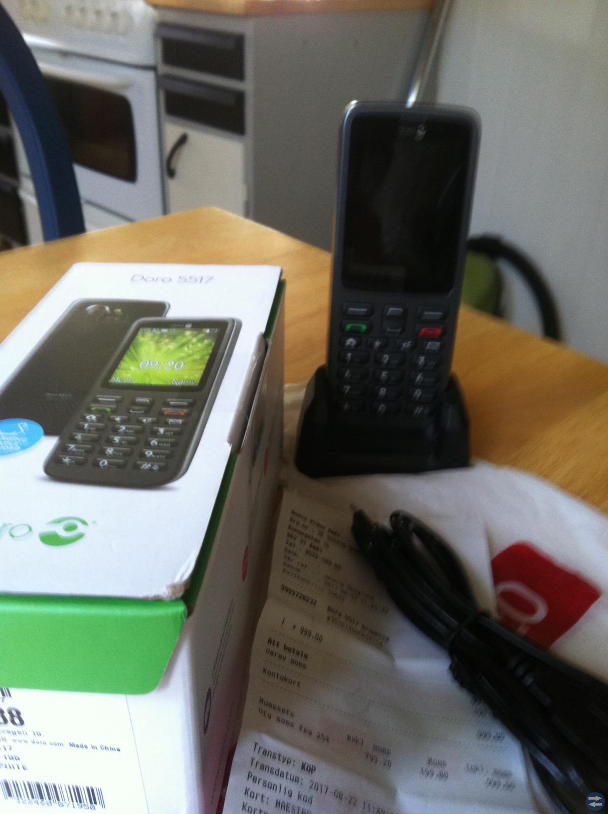 Knapptelefon Doro 3 månader,inte andvänd!