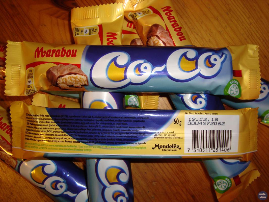 Marabou godis stycksak Co-Co 60 g
