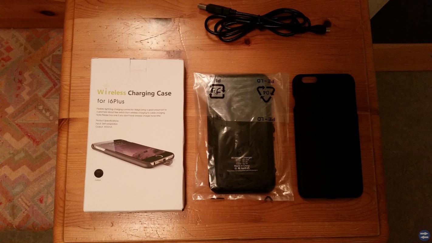 Trådlös laddare för iPhone 6+