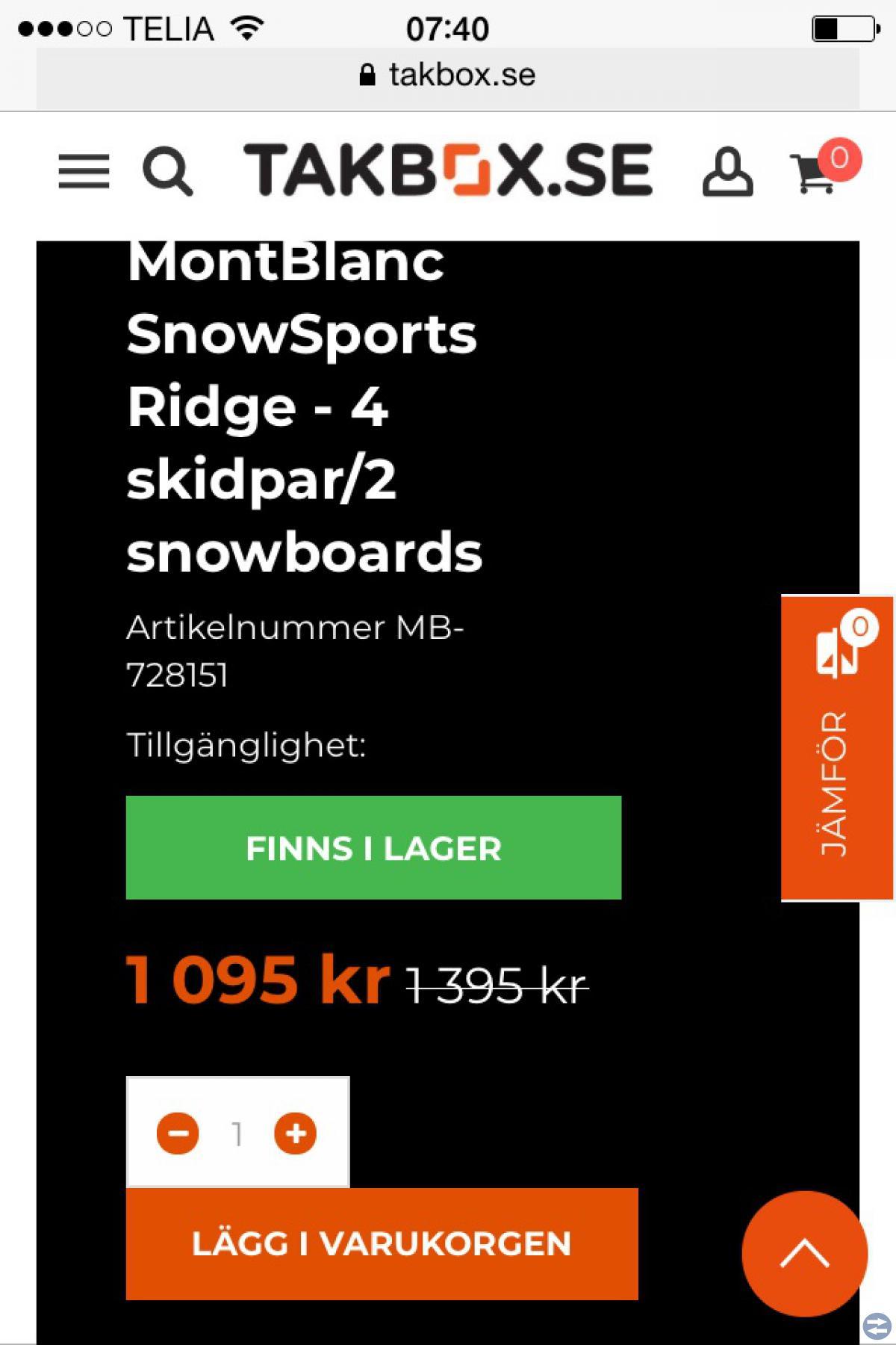 Skidhållare MontBlanc
