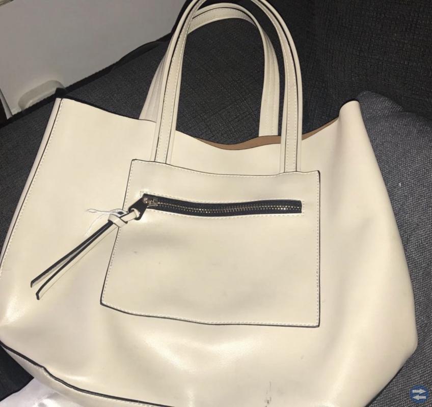 Vit/beige väska