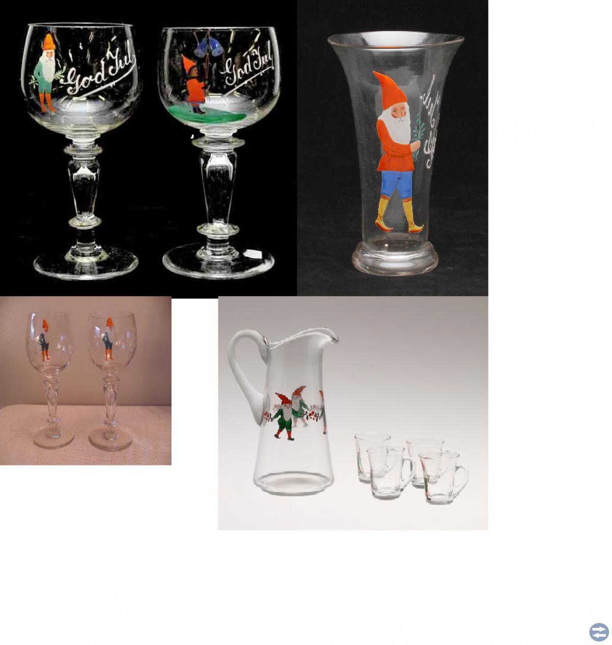 Har Ni några trevliga glas med julmotiv till salu.
