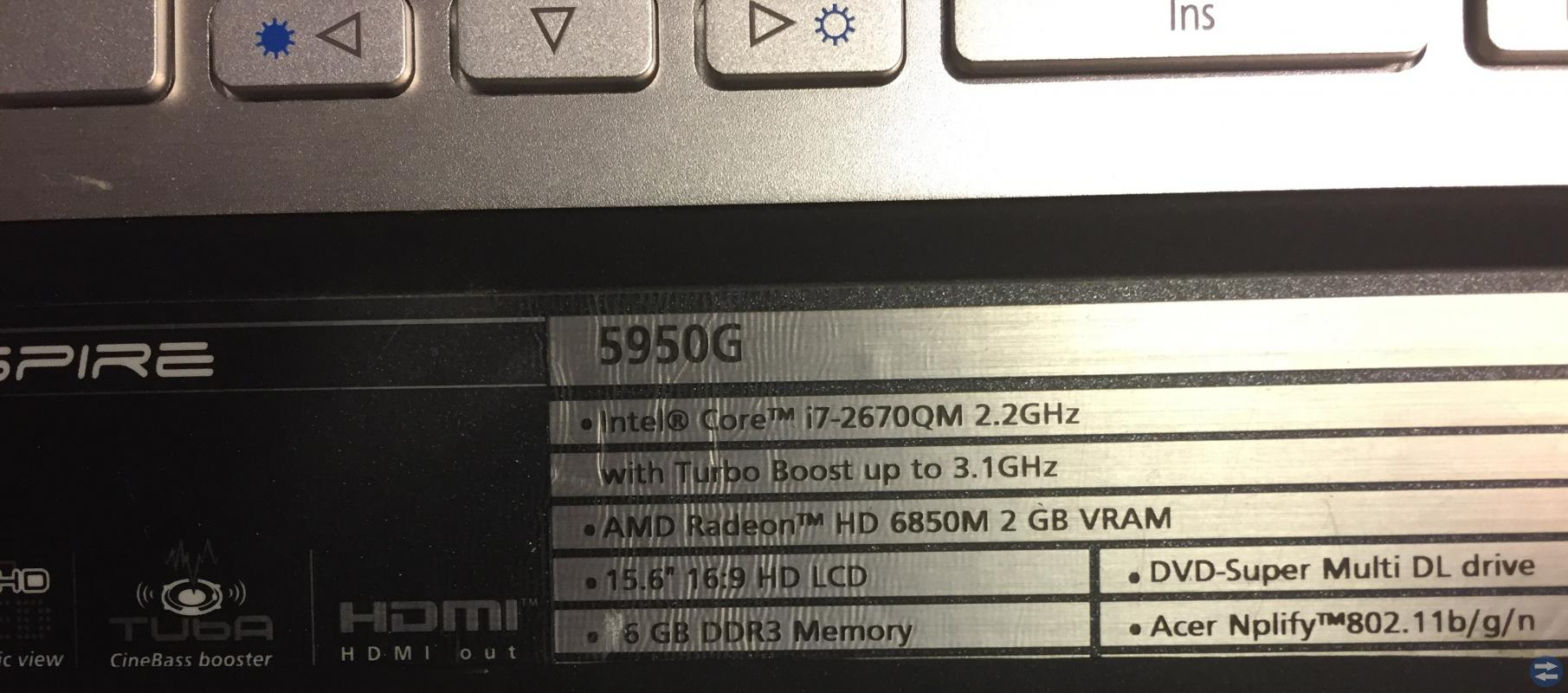 Speldator 6 GB ram i7, 8 kärnor, 5 GB bild med lad