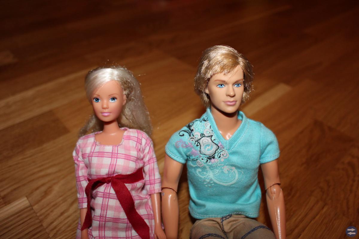 Stort Barbiepaket, äkta Barbies, 6 st.