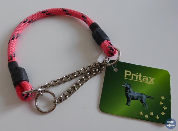 Nytt reflexhalsband Pritax halvstryp, rosa