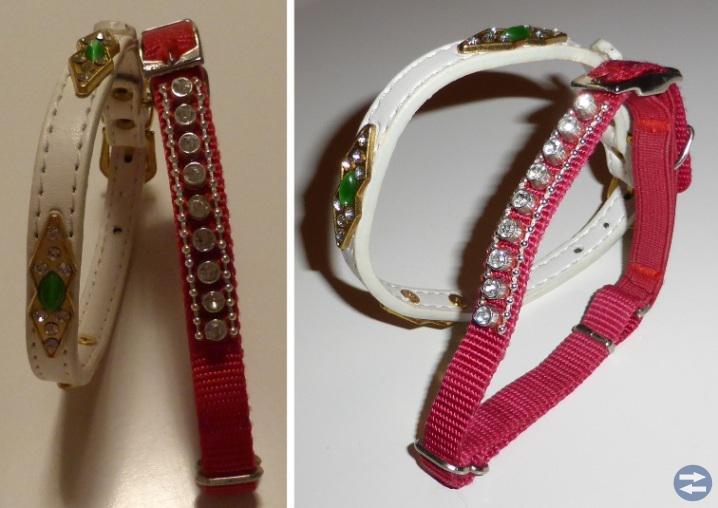 Två stycken halsband med bling bling
