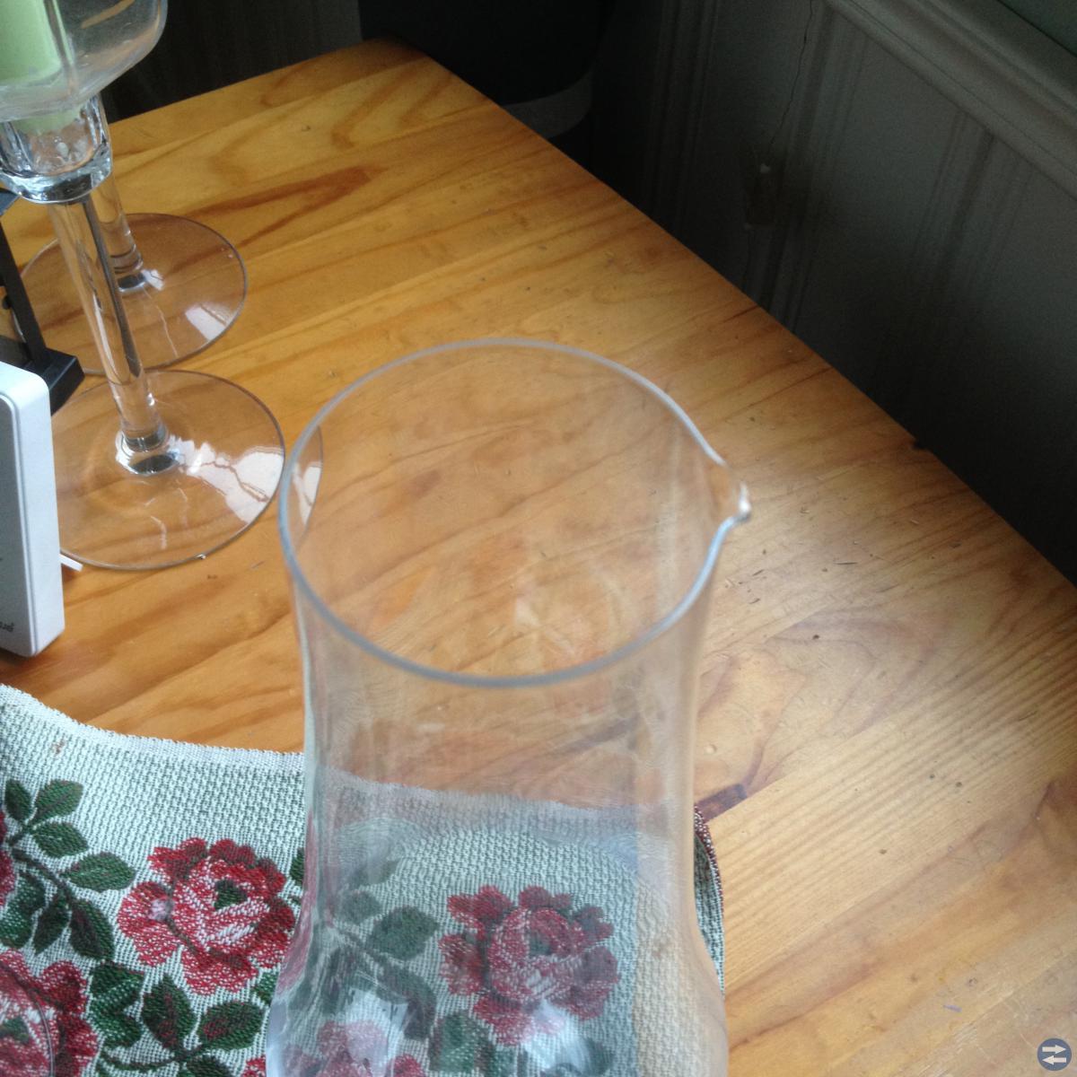 Orrefors - dekanter/karaff kristall med 2 glas