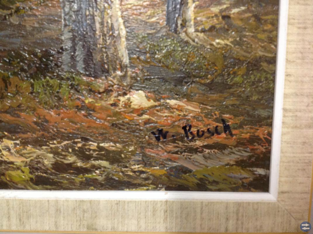 Oljemålning på duk. W. Bosch. (Busch)