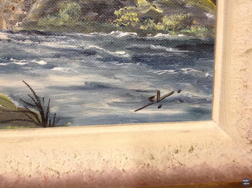 Oljemålning på mazonit av S.L.