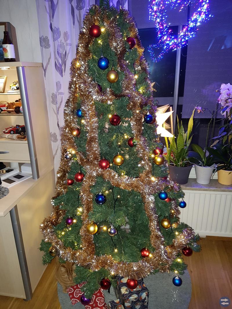 Komplett julgran med belysning