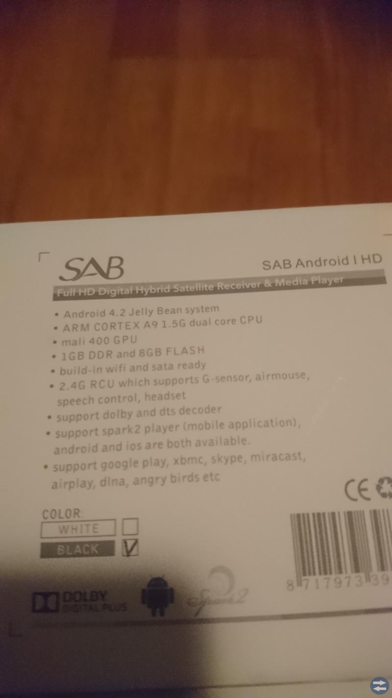 Sab Android HD box